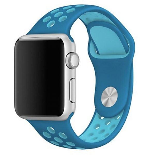 sport bandje voor de Apple Watch-Blauw-Lichtblauw-002