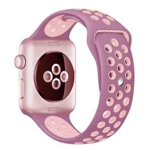 sport bandje voor de Apple Watch- Lavendel Lichtroze-004