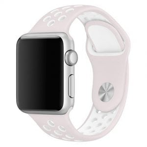sport bandje voor de Apple Watch-Licht Rose Wit-001
