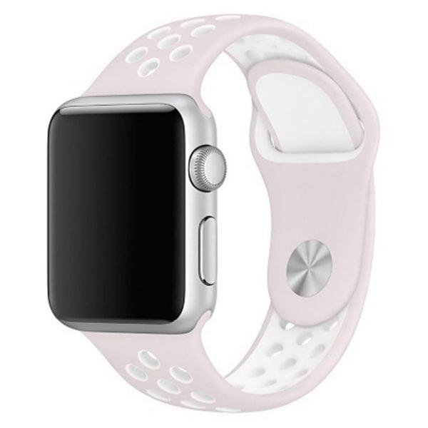sport bandje voor de Apple Watch-Licht Rose Wit-001
