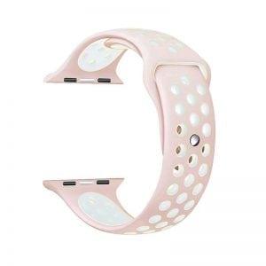 sport bandje voor de Apple Watch-Licht Rose Wit-002