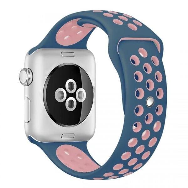 sport bandje voor de Apple Watch-Midden blauw-Rose-007