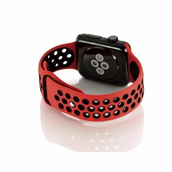 sport bandje voor de Apple Watch - Rood Zwart-004