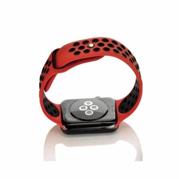 sport bandje voor de Apple Watch - Rood Zwart-006