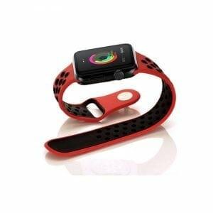 sport bandje voor de Apple Watch - Rood Zwart-007