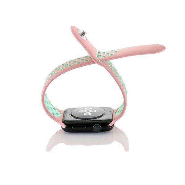 sport bandje voor de Apple Watch-Rose Aqua-005