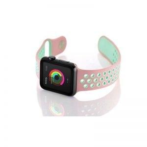 sport bandje voor de Apple Watch-Rose Aqua-007