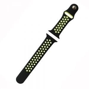 sport bandje voor de Apple Watch-Zwart-Geel-006