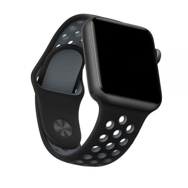 sport bandje voor de Apple Watch-Zwart-Grijs-002