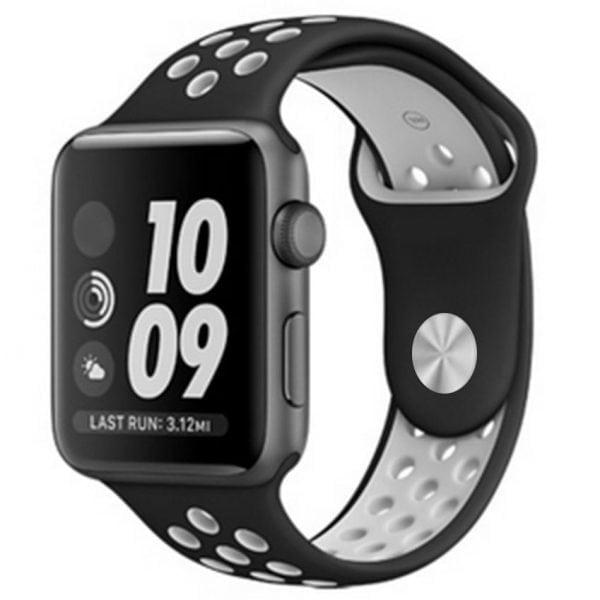 sport bandje voor de Apple Watch-Zwart-Grijs-004