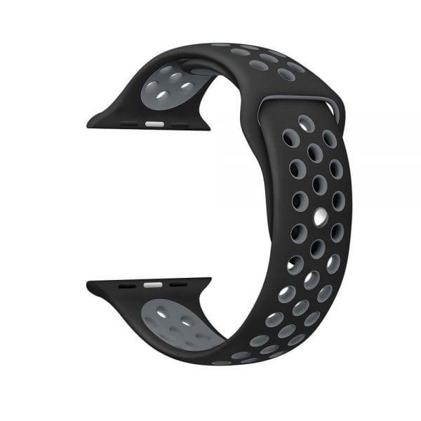 sport bandje voor de Apple Watch-Zwart-Grijs-006