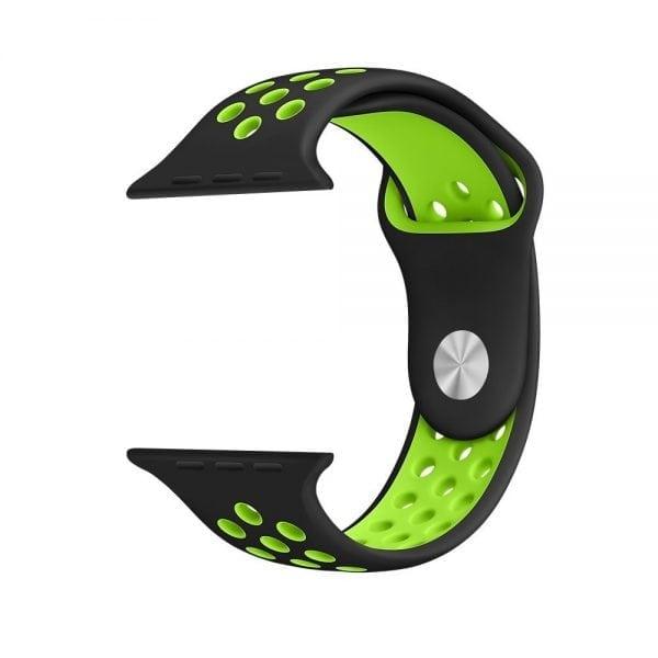 sport bandje voor de Apple Watch-Zwart-Groen-001