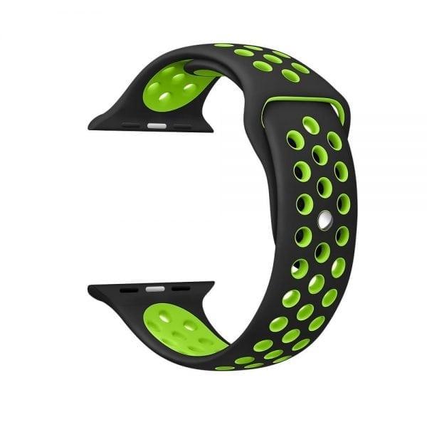 sport bandje voor de Apple Watch-Zwart-Groen-002