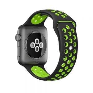 sport bandje voor de Apple Watch-Zwart-Groen-003