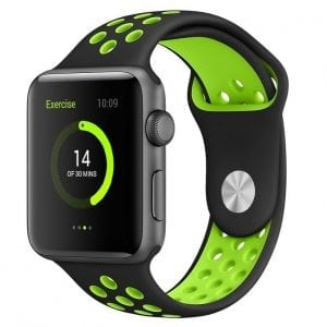 sport bandje voor de Apple Watch-Zwart-Groen-005