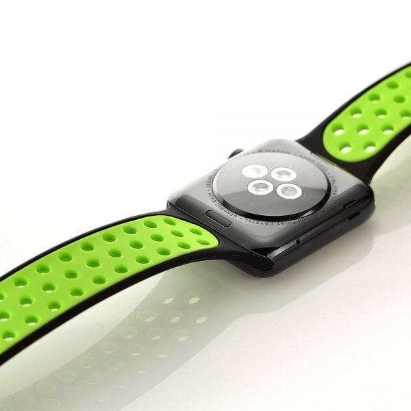 sport bandje voor de Apple Watch-Zwart-Groen-006