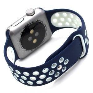 sport bandje voor de Apple Watch-blauw-wit-001