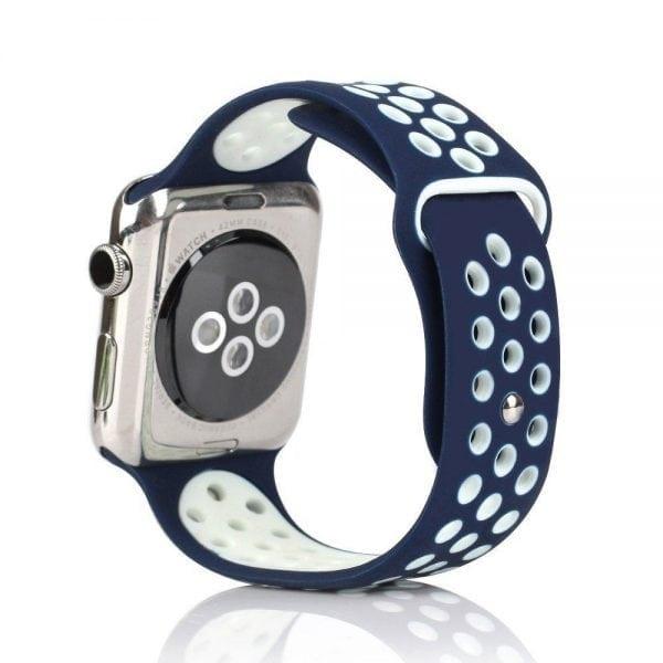sport bandje voor de Apple Watch-blauw-wit-002