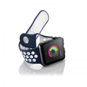 sport bandje voor de Apple Watch-blauw-wit-003