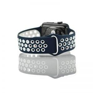 sport bandje voor de Apple Watch-blauw-wit-005