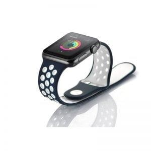 sport bandje voor de Apple Watch-blauw-wit-008