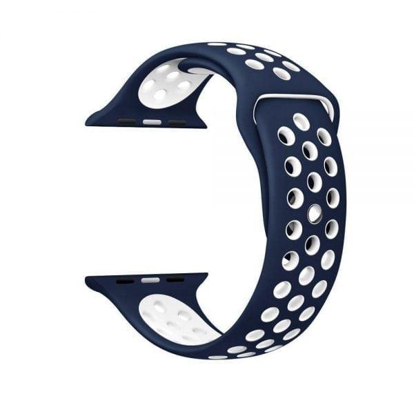 sport bandje voor de Apple Watch-blauw-wit-010