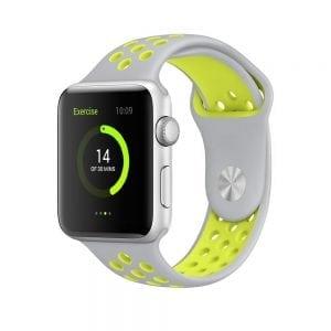 sport bandje voor de Apple Watch-grijs-geel-005