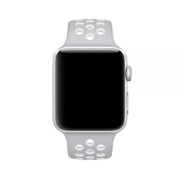 sport bandje voor de Apple Watch-grijs-wit-003