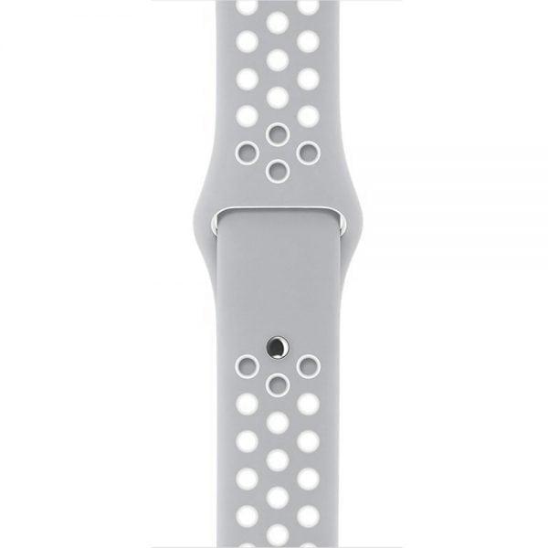 sport bandje voor de Apple Watch-grijs-wit-005