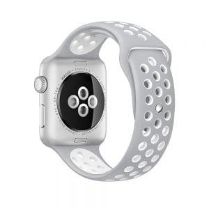 sport bandje voor de Apple Watch-grijs-wit-007