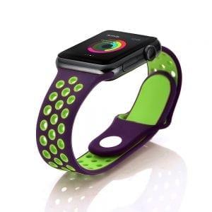 sport bandje voor de Apple Watch-paars-groen-002