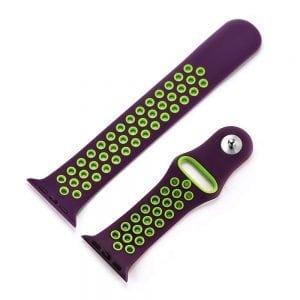 sport bandje voor de Apple Watch-paars-groen-003