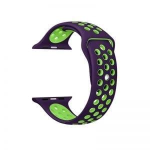 sport bandje voor de Apple Watch-paars-groen-004