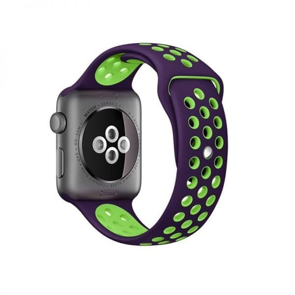 sport bandje voor de Apple Watch-paars-groen-006