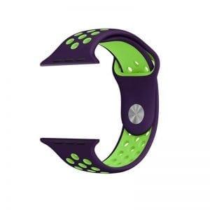 sport bandje voor de Apple Watch-paars-groen-007
