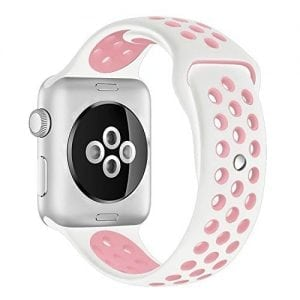 sport bandje voor de Apple Watch-wit-rose-005