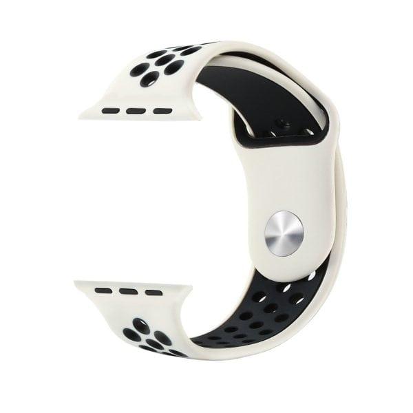 sport bandje voor de Apple Watch-wit-zwart-001