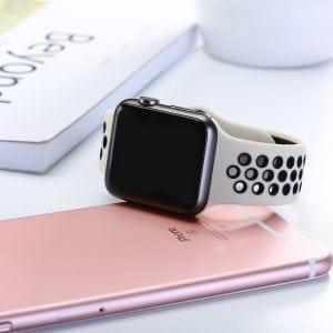 sport bandje voor de Apple Watch-wit-zwart-003