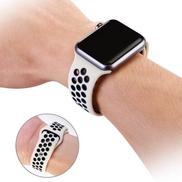sport bandje voor de Apple Watch-wit-zwart-004