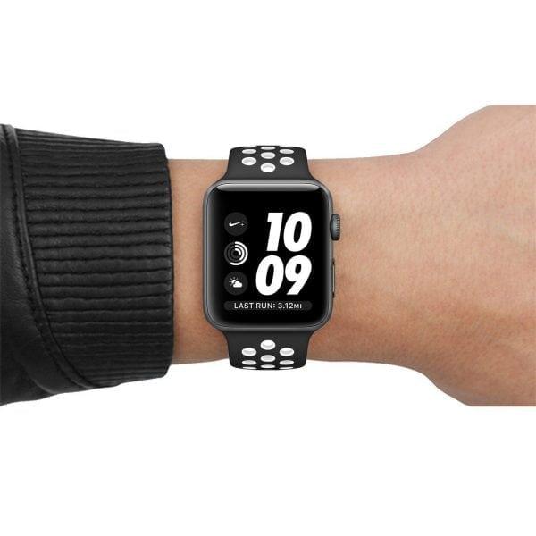 sport bandje voor de Apple Watch-zwart-wit-001