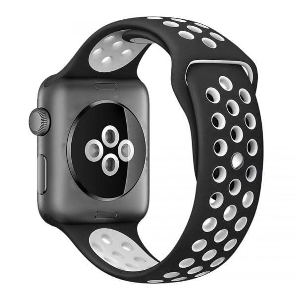 sport bandje voor de Apple Watch-zwart-wit-002