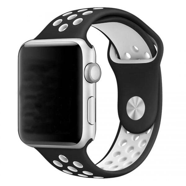 sport bandje voor de Apple Watch-zwart-wit-003