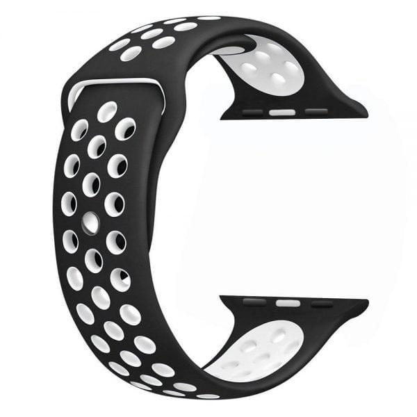 sport bandje voor de Apple Watch-zwart-wit-006