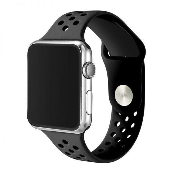 sport bandje voor de Apple Watch-zwart-zwart-002