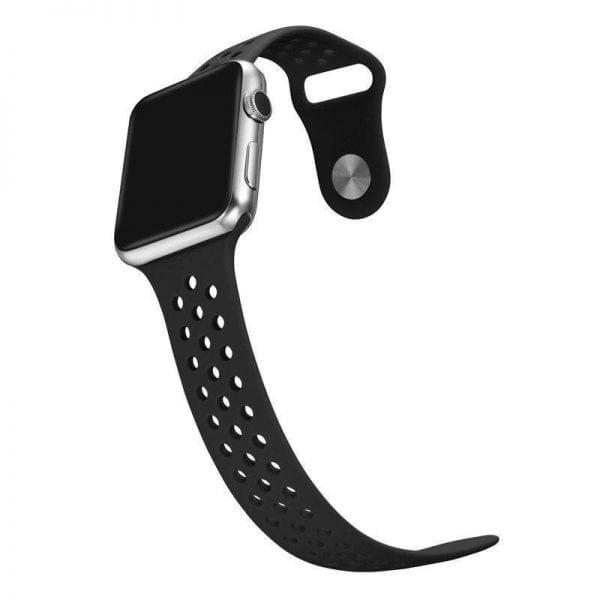 sport bandje voor de Apple Watch-zwart-zwart-004
