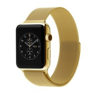 Milanese Loop rvs goud bandje voor de Apple Watch 42mm-008