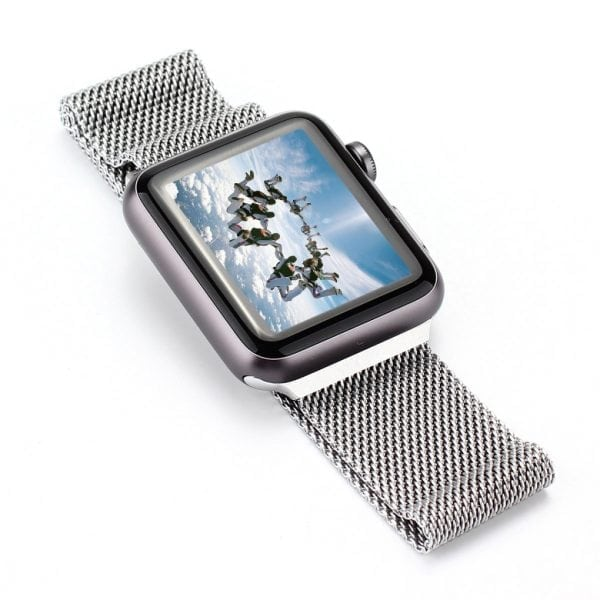 Milanese Loop rvs zilver bandje voor de Apple Watch 42mm-001