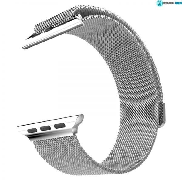 Milanese Loop rvs zilver bandje voor de Apple Watch 42mm-004