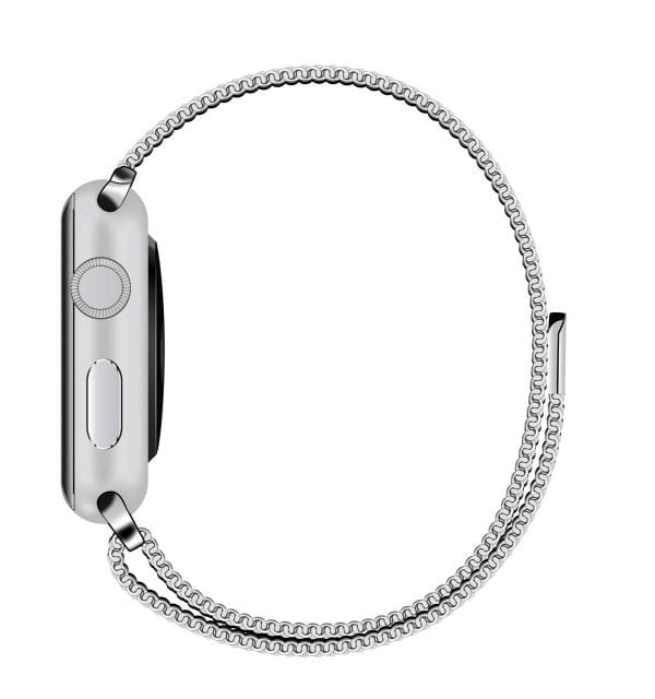 Milanese Loop rvs zilver bandje voor de Apple Watch 42mm-010