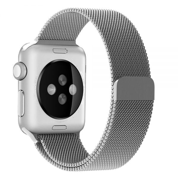 Milanese Loop rvs zilver bandje voor de Apple Watch 42mm-011